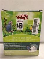 LIVING WORLD DELUXE BIRD BATH