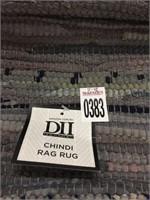"CHINDI RAG RUG 2'.3""X6"""