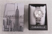 CARAVELLE NEW YORK Womens 43L186 Dress White Dial
