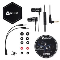 KLIM Fusion Earbuds with Mic Audio - Long-Lasting