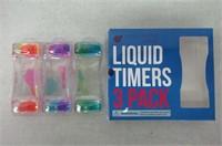 Purple Ladybug Novelty 3 Pack of Liquid Motion