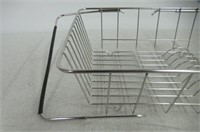 """As Is"" Extendable Dish Drying Rack, Silver"