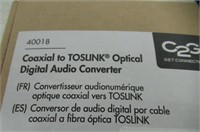 C2G 40018 Coaxial to Toslink Optical Digital Audio
