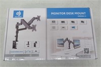 Dual Arm Monitor Stand, Full Motion Adjustable Gas