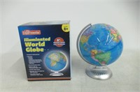 Illuminated World Globe for Kids With Stand,Built