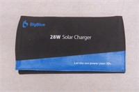BigBlue 5V 28W Solar Charger with Digital Ammeter