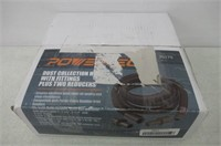 POWERTEC 70175 Dust Collection Hose with Fittings
