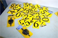 Box of Black House Numbers and Knockers