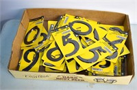 "Tray of 4"" Plastic House Numbers"