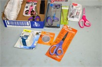 Tray of Assorted Scissors, Food Chopper, Beach