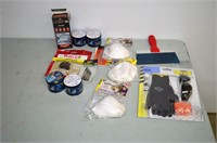 Box of Assorted Home Repair Products and Tools