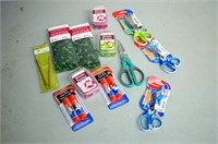 Box of Craft Beads and Craft Supplies