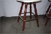 Pair of Swivel Counter Height Bar Stools