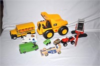 Grp, of Assorted Toys - Dump Truck, Excavator,