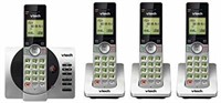 VTech DECT 6.0 Four Handset Cordless Phones with
