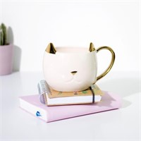 Pinky Up 5384.0 Chloe Cat Mug, Pink