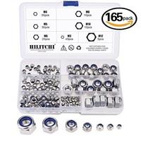 Hilitchi 165-Piece Stainless Steel Nylon Lock Nut
