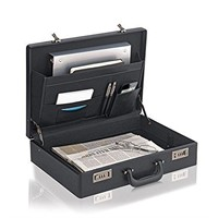 Solo Premium Leather-like Attaché, Hard-sided
