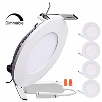 B-right Pack of 5 Units Dimmable 6W 4-inch