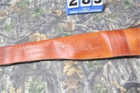 Handcarved Leather Rifle Case