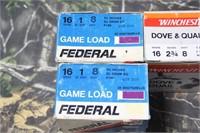 Mixed Lot Federal 16g Shotgun Shells