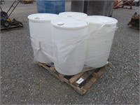 (4) 55 Gallon Plastic Drums