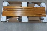 Sunnydaze 2-Person Outdoor Garden Bench, Cast Iron