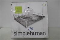 "simplehuman 20"" Cabinet Organizer Stainless Steel"