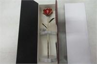 Rose Flower ,Cozime 24k Gold Foil Trim Gold Dipped
