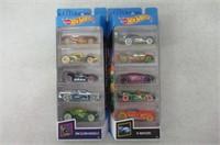 (2) Hot Wheels Set of 5 X Racers