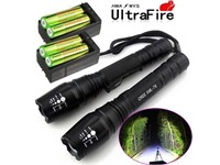 """As Is"" 2X Police 10000 Lumens Led Flashlight"