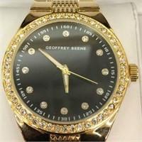 Geoffrey Beene Mens Watch Gold Metal Strap with