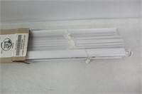 """(2) Sears 1"""" PVC Light Filtering Blinds, Size: 38"""""""