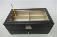 """""""As Is"""" CO-Z Leather Box Sunglasses Organizer"""