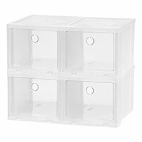 IRIS High Clear Pull Down Front Access Shoe Box, 4