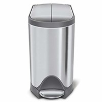 simplehuman Butterfly Step Trash Can, Stainless