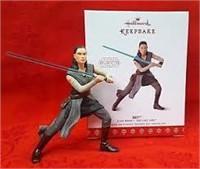 (2) Hallmark Star Wars Rey Keepsake