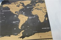 """""""As Is"""" Scratch off World Map - 2019 Newest"""