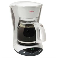 Sunbeam 12 Cup Programmable Coffee Maker, White