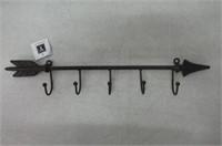 "Young's Inc 17""X1.5""X3.25"" Metal Arrow Wall Hook"