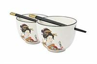 """""""As Is"""" Set 2 Large Porcelain Geisha In Kimono"""
