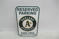 Oakland A'S Sign Reserved Parking by Licensed