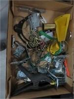 Box of brackets, clamp etc