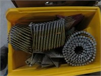 5 boxes and 2 pails of coil nails