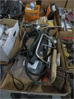 2 Boxes of misc tools and hardware
