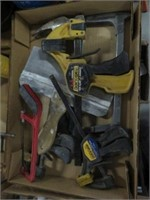 Box of clamps etc