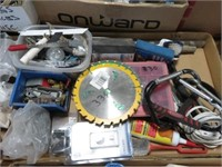 2 Boxes of hardware, clamps,etc