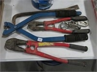 Group of bolt cutters, etc