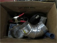 Box of clamps and fittings