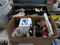 2 Boxes of plumbing supplies
